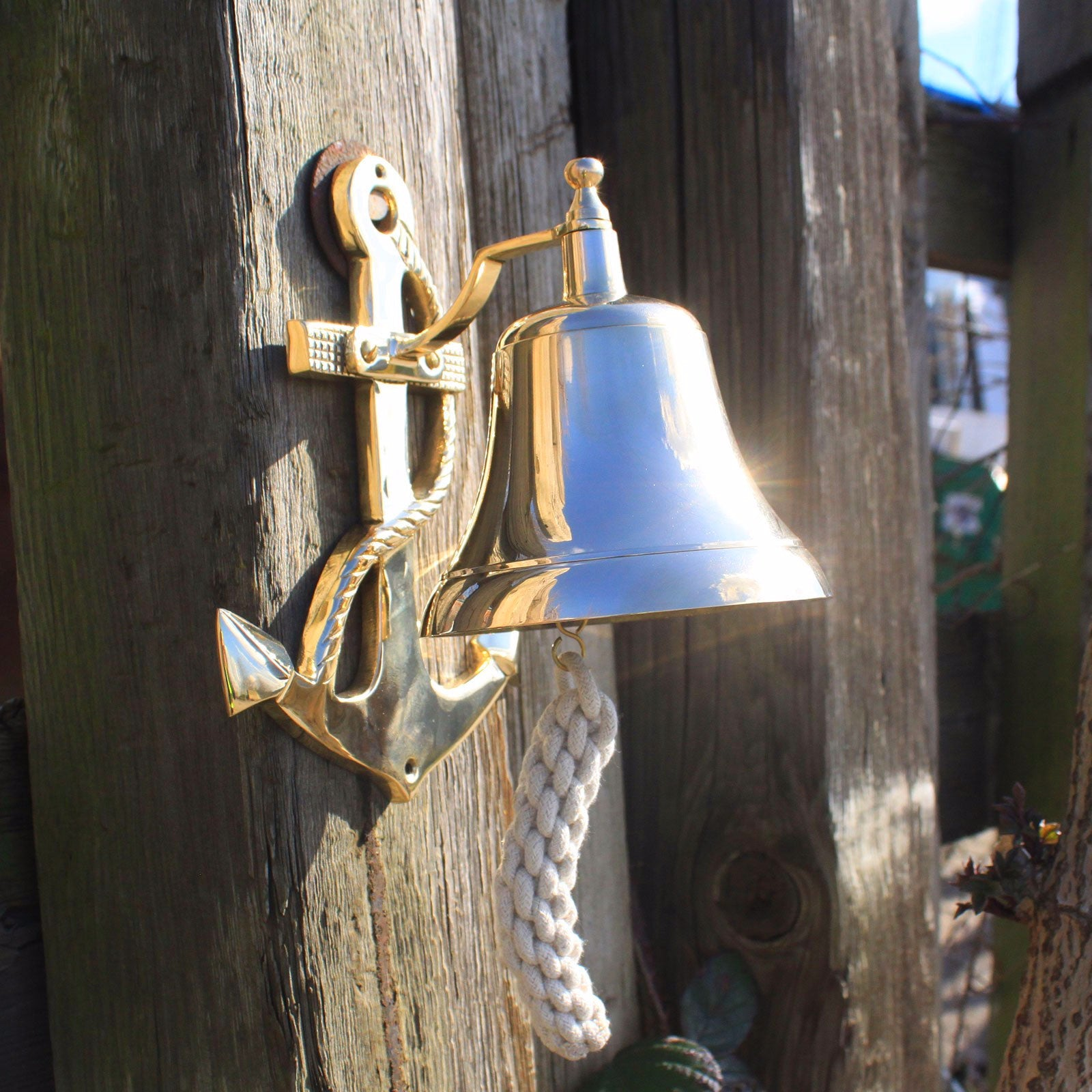 Vintage brass bells- Anchor - Divine Yoga Shop