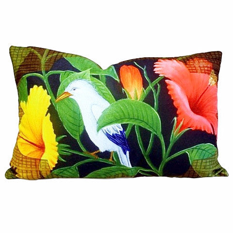 Exotic Flora & Bird Cushion Cover - Divine Yoga Shop