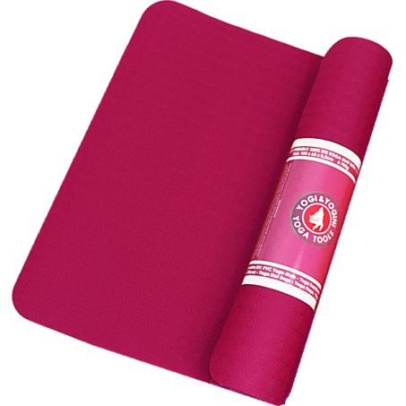 YOGA MATS- Supple & Lightweight 100% TPE (Burgundy) - Divine Yoga Shop