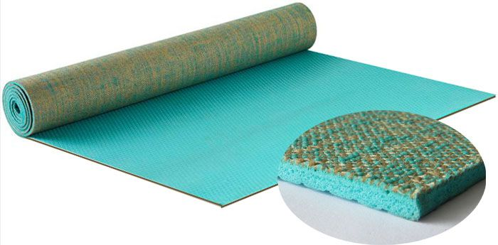 ECO-FRIENDLY YOGA MATS- MADE OF JUTE (Green) - Divine Yoga Shop