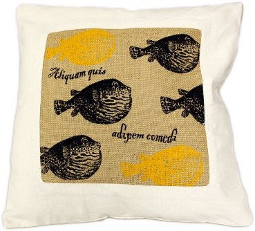 Jute Cushion Cover- Fisherman's Catch - Divine Yoga Shop