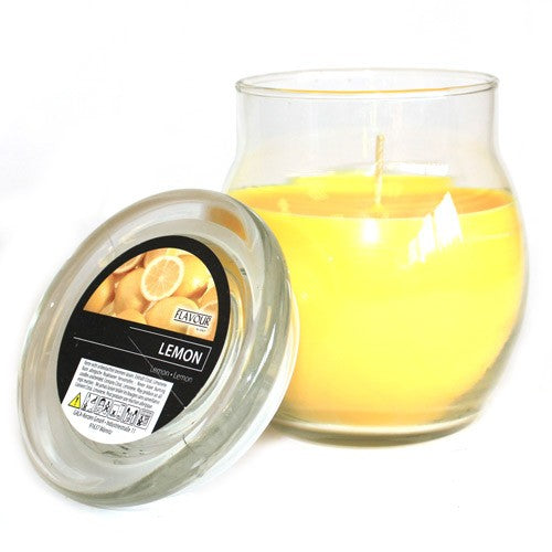 Scented Large Glass Jar Candle - Divine Yoga Shop