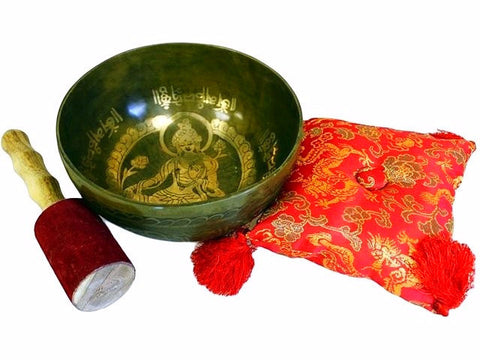 Special Golden Tara - Brass Singing Bowl Set - Divine Yoga Shop