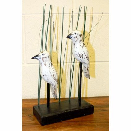 Wooden Carved Birds- Herons - Divine Yoga Shop