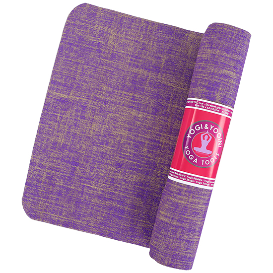 ECO-FRIENDLY YOGA MATS- MADE OF JUTE (Violet) - Divine Yoga Shop