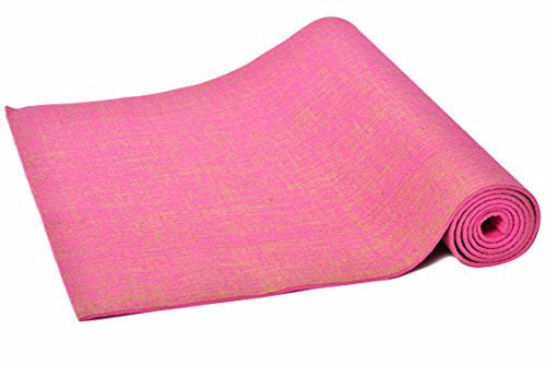 ECO-FRIENDLY YOGA MATS- MADE OF JUTE (Pink) - Divine Yoga Shop