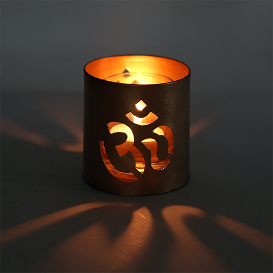 OM Tealight Candle Holder - Can be used as Meditation Tool - Divine Yoga Shop