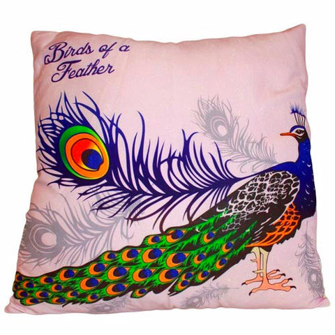 Peacock Feather- Cushion Cover - Divine Yoga Shop