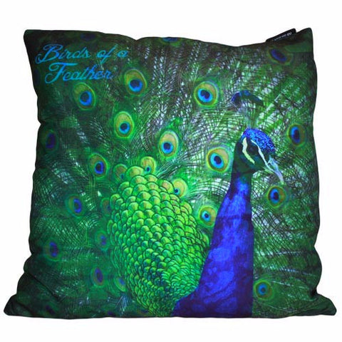 Green Peacock- Cushion Cover - Divine Yoga Shop