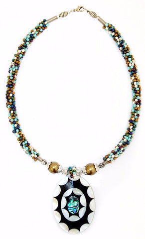 Turquoise Touch Shell Necklace - Divine Yoga Shop
