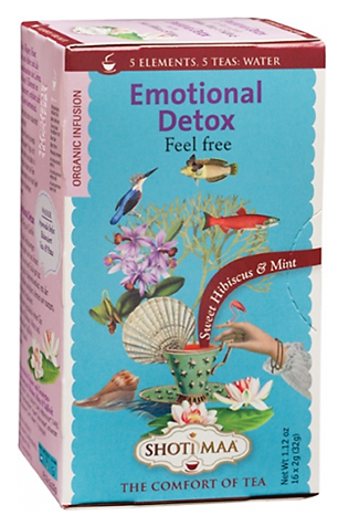 Ayurvedic Organic Tea with Sweet Hibiscus & Mint - Divine Yoga Shop