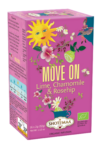 Ayurvedic organic tea with lime, chamomile & rosehip - Divine Yoga Shop