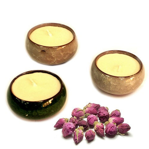 Soybean Tea Cup Candles (Pack of 3) - Divine Yoga Shop