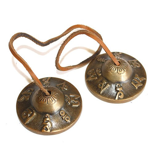 Brass Mini Tingsha- Manzira - Divine Yoga Shop