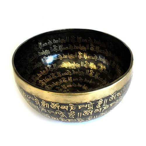 Large Tibetan Mantra Bowl - Divine Yoga Shop