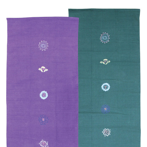 Cotton Yoga Rug - Chakra Pattern - Divine Yoga Shop