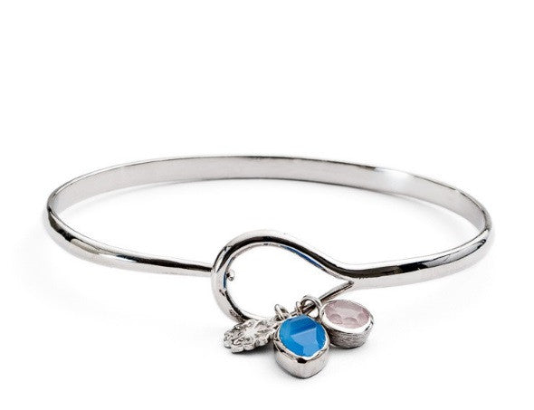 Athena Sprung Charm Bangle by AZUNI - Available in two colours.