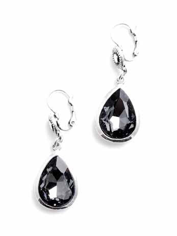 Diamond stone tear drop pendant by ZENZII - available in two colours