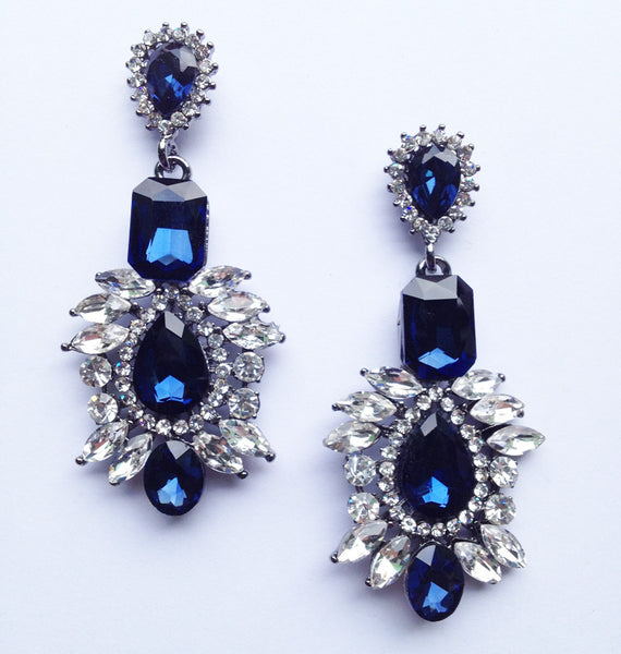 Rhinestone Earrings - available in two colours