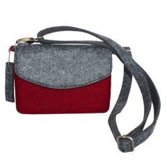 Urban Country Compact Felt Shoulder Bag.