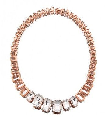Aria, Rose Gold Necklace