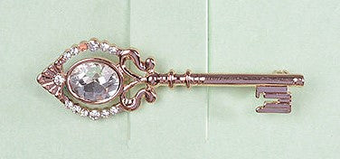 Elegant Key Brooch