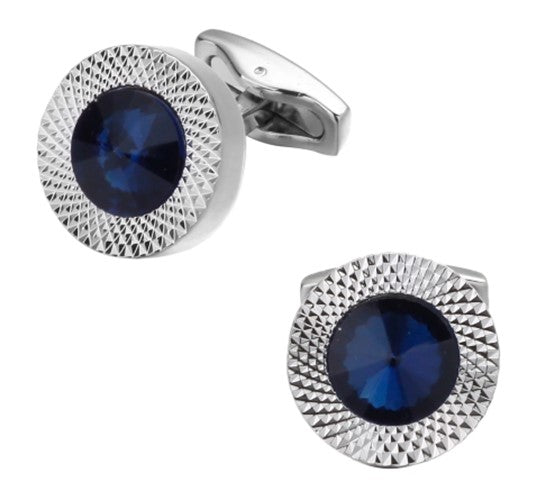 Midnight Blue Crystal Cufflinks