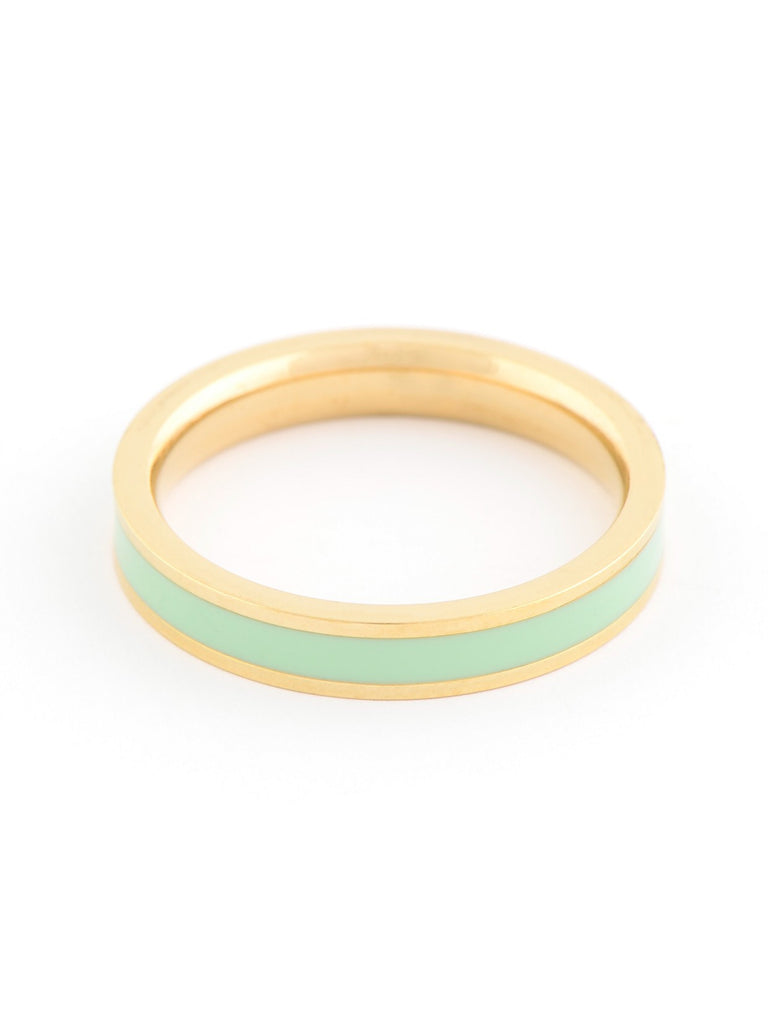 Mint Colour Band Ring by ZENZII