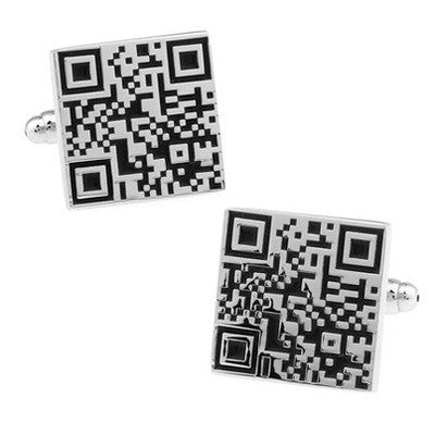 QR Code Novelty Cufflinks