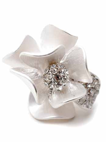 Magnolias Ring by ZENZII - Available in two colours.