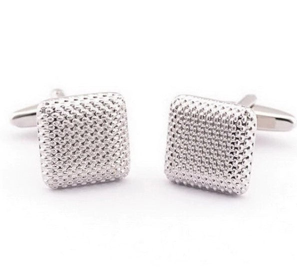 The Silver Weave Cufflinks