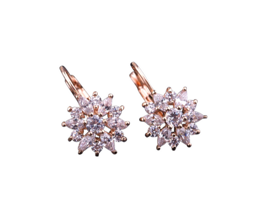 LEA Austrian Crystal Drop Earrings