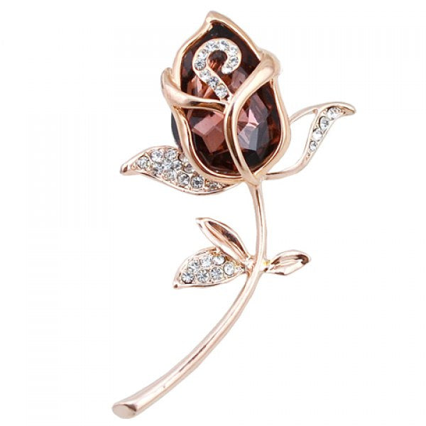 Rose Shaped Brooch