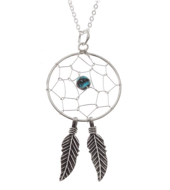 Sterling Silver Dream Catcher Pendant