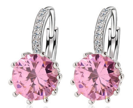 Zirconia Elegant Earrings - available in eight colours