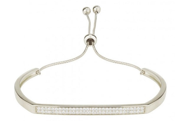 Pave Bar Bangle by INGENIOUS JEWELLERY - available in two colours