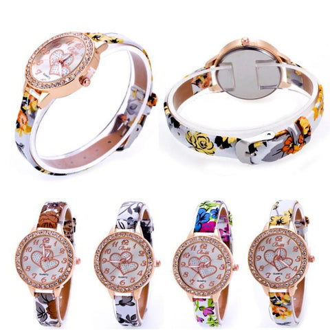 New Fashion Heart Design with Slim Band Wristwatches - LIMITED ITEM