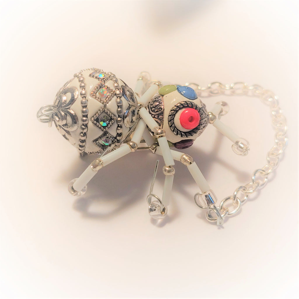 Limited Collection Set white Lucky Jeweled Bug