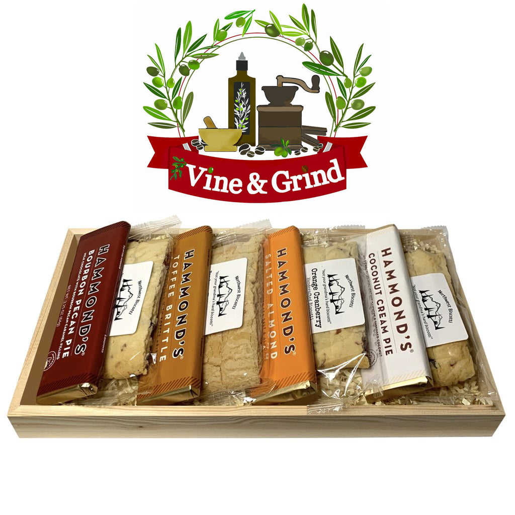 Chocolate Bars and Biscotti Gift Tray at Vine and Grind in Treasure Island, FL Great gift