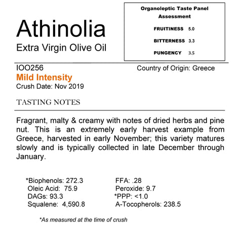 Athinolia Extra Virgin Olive Oil from Greece
