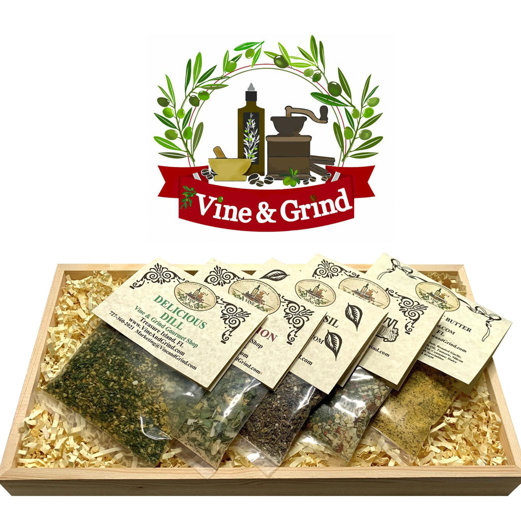 Veggie Dip and seasoning spice gift tray Vine and Grind