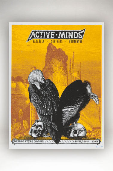 Brookesia Studio Screenprint - Active Minds - 50x65 cm