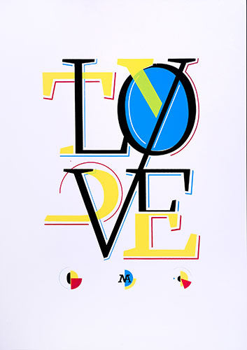 MakeArte - Love Type - 42x59 cm