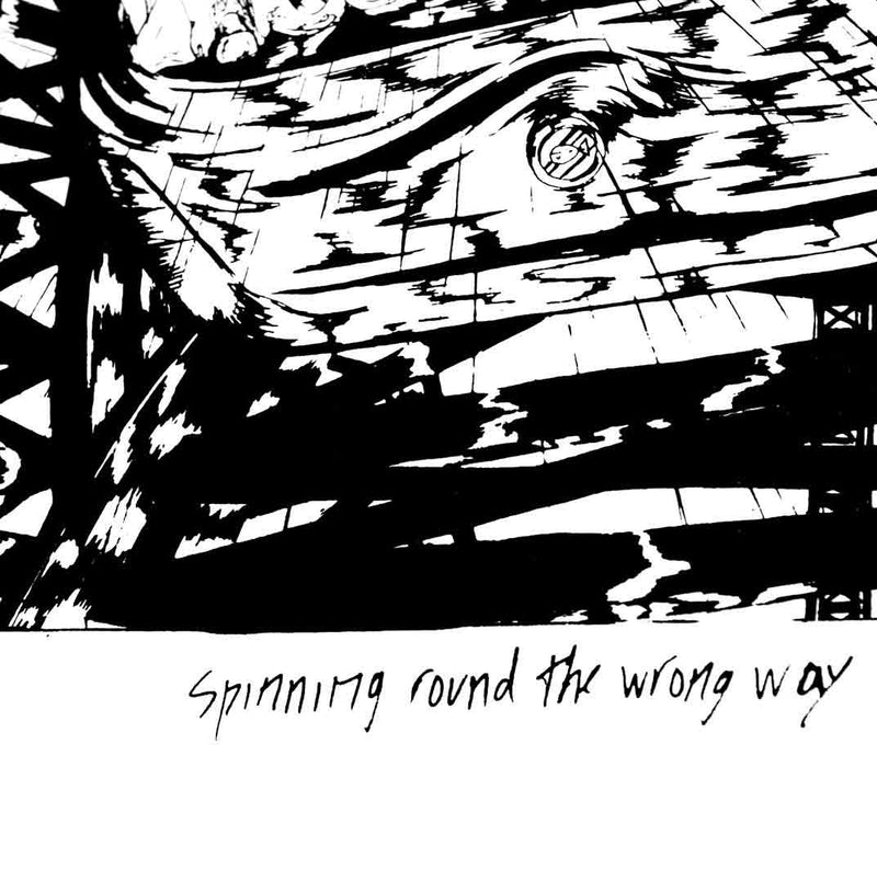 DIVE - Spinning round the wrong way - Screenprint