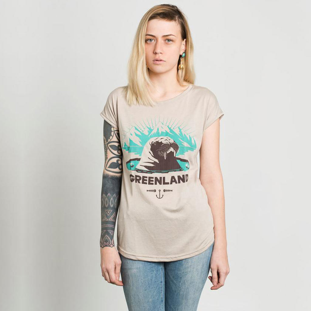Gelada - Greenland Women Screen Printed Short Sleeve T-shirt
