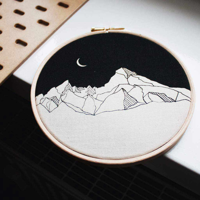 Just Jules - Print on Textil - Mountains & Moon