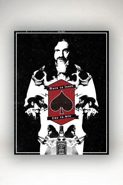 Noise Armada - Lemmy Tribute Poster Red