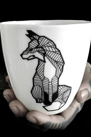 Antikapratika - Black Lines Porcelain - Mug Fox