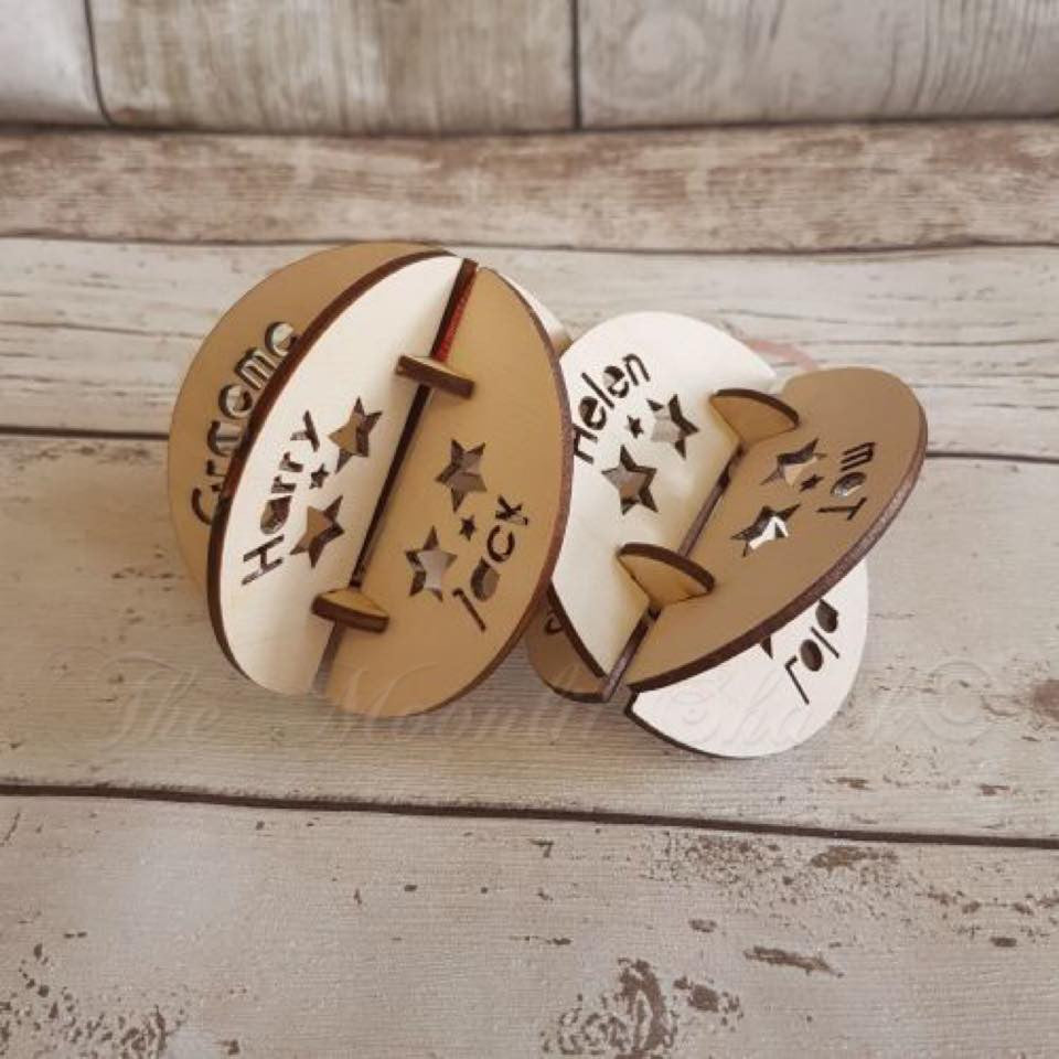 ... 3D Wooden Christmas Bauble