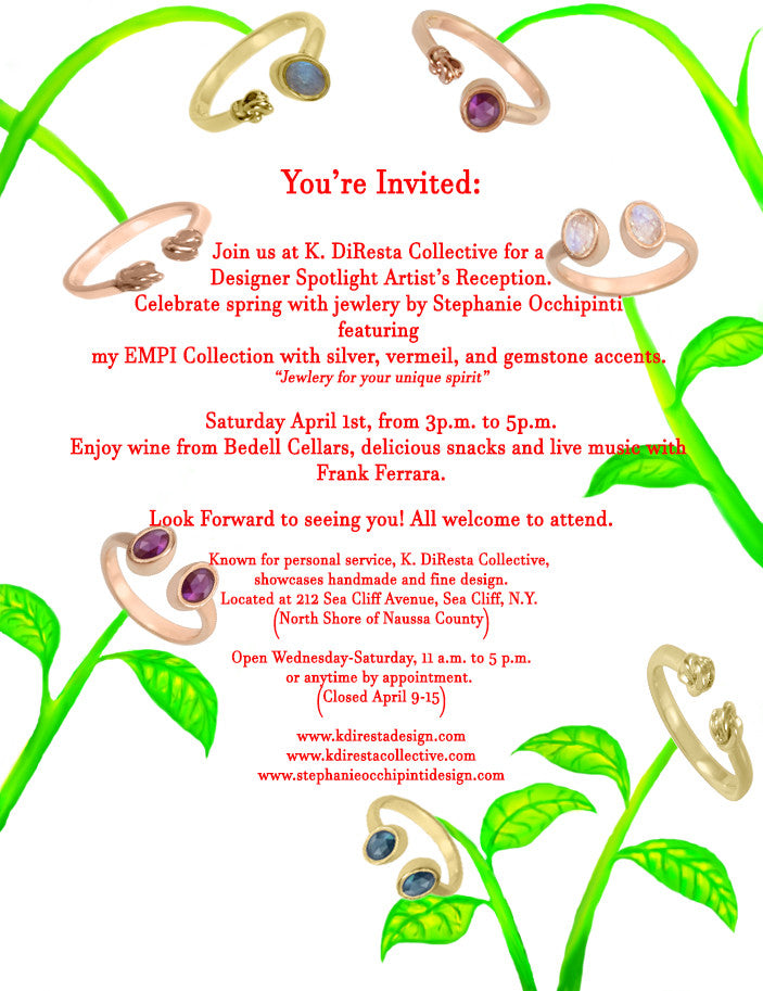Join us at K. DiResta Collective for a Designer Spotlight Artists Reception.